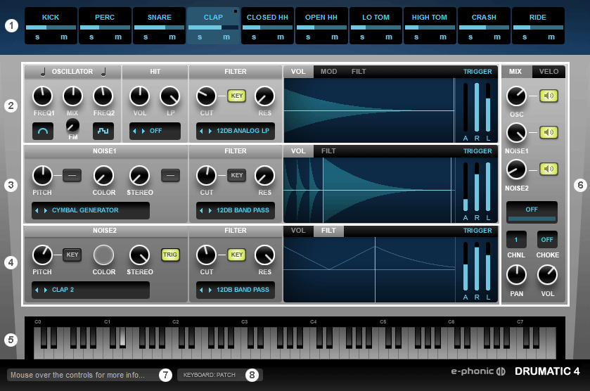 Drumatic 4 VST Drum Synthesizer for Windows (32/64bit)